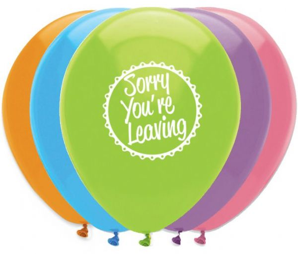 Sorry You're Leaving - Latex balloons (6pk)